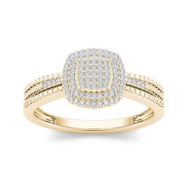jcpenney.com | 1/5 CT. T.W. Diamond 10K Yellow Gold Engagement Ring