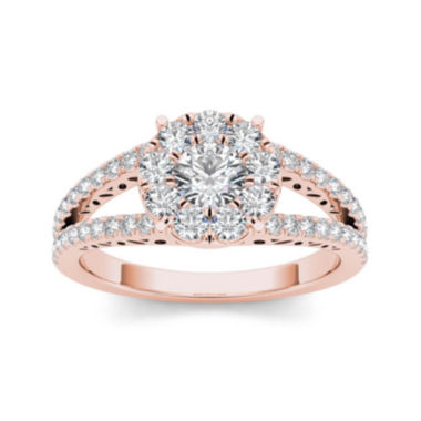 jcpenney.com | 1 CT. T.W. Diamond 10K Rose Gold Engagement Ring