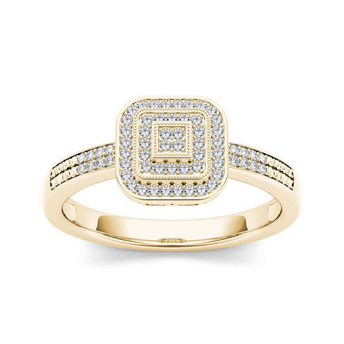 1/6 CT. T.W. Diamond 10K Yellow Gold Engagement Ring