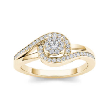 jcpenney.com | 1/5 CT. T.W. Diamond Swirl 10K Yellow Gold Engagement Ring