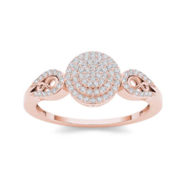jcpenney.com | 1/5 CT. T.W. Diamond 10K Rose Gold Infinity Engagement Ring