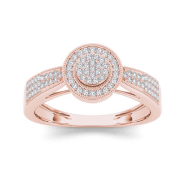 jcpenney.com | 1/4 CT. T.W. Diamond 10K Rose Gold Engagement Ring