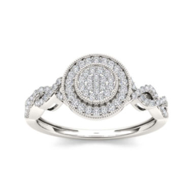 jcpenney.com | 1/5 CT. T.W. Diamond 10K White Gold Engagement Ring