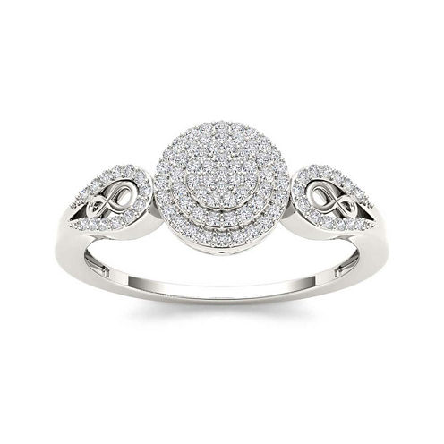 1/5 CT. T.W. Diamond 10K White Gold Infinity Engagement Ring