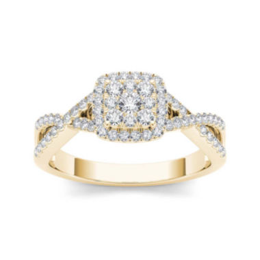 jcpenney.com | 3/8 CT. T.W. Diamond 10K Yellow Gold Engagement Ring