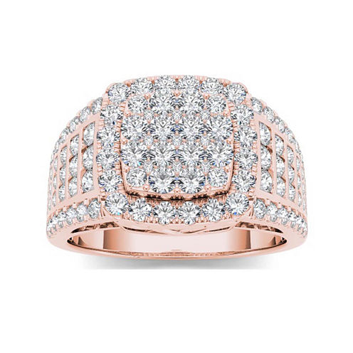 1 1/2 CT. T.W. Diamond 10K Rose Gold Engagement Ring