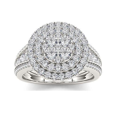 1 1/2 CT. T.W. Diamond 10K White Gold Engagement Ring