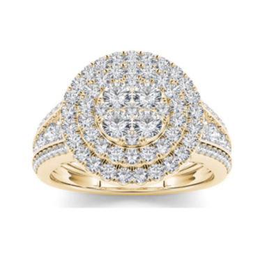 jcpenney.com | 1 1/2 CT. T.W. Diamond 10K Yellow Gold Engagement Ring