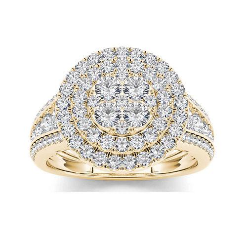 1 1/2 CT. T.W. Diamond 10K Yellow Gold Engagement Ring
