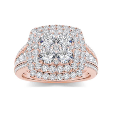 jcpenney.com | 1 1/2 CT. T.W. Diamond 10K Rose Gold Engagement Ring