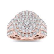 2 CT. T.W. Diamond 10K Rose Gold Engagement Ring