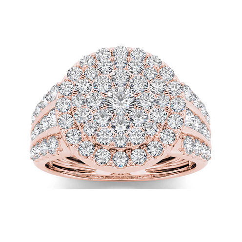 2 CT. T.W. Diamond 10K Rose Gold Engagement Ring