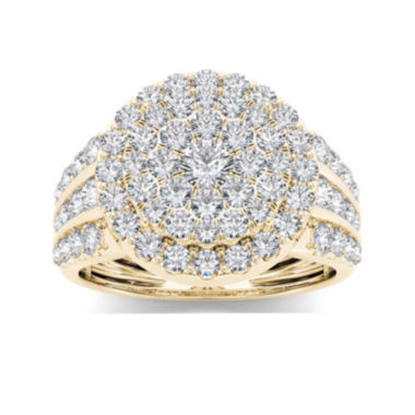 jcpenney.com | 2 CT. T.W. Diamond 10K Yellow Gold Engagement Ring