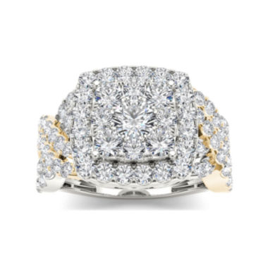 jcpenney.com | 2 CT. T.W. Diamond 10K Two-Tone Gold Engagement Ring
