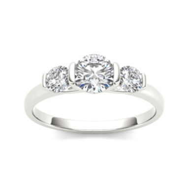 jcpenney.com | 1 1/4 CT. T.W. Diamond 14K White Gold 3-Stone Engagement Ring