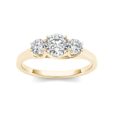 jcpenney.com | 1 1/4 CT. T.W. Diamond 14K Yellow Gold 3-Stone Engagement Ring