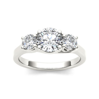 jcpenney.com | 1 1/2 CT. T.W. Diamond 14K White Gold 3-Stone Engagement Ring