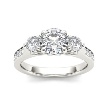 jcpenney.com | 2 CT. T.W. Diamond 14K White Gold 3-Stone Engagement Ring