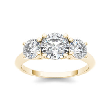 jcpenney.com | 2 CT. T.W. Diamond 14K Yellow Gold 3-Stone Engagement Ring