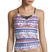 Arizona Festival Paisley Tankini Swim Top - Juniors