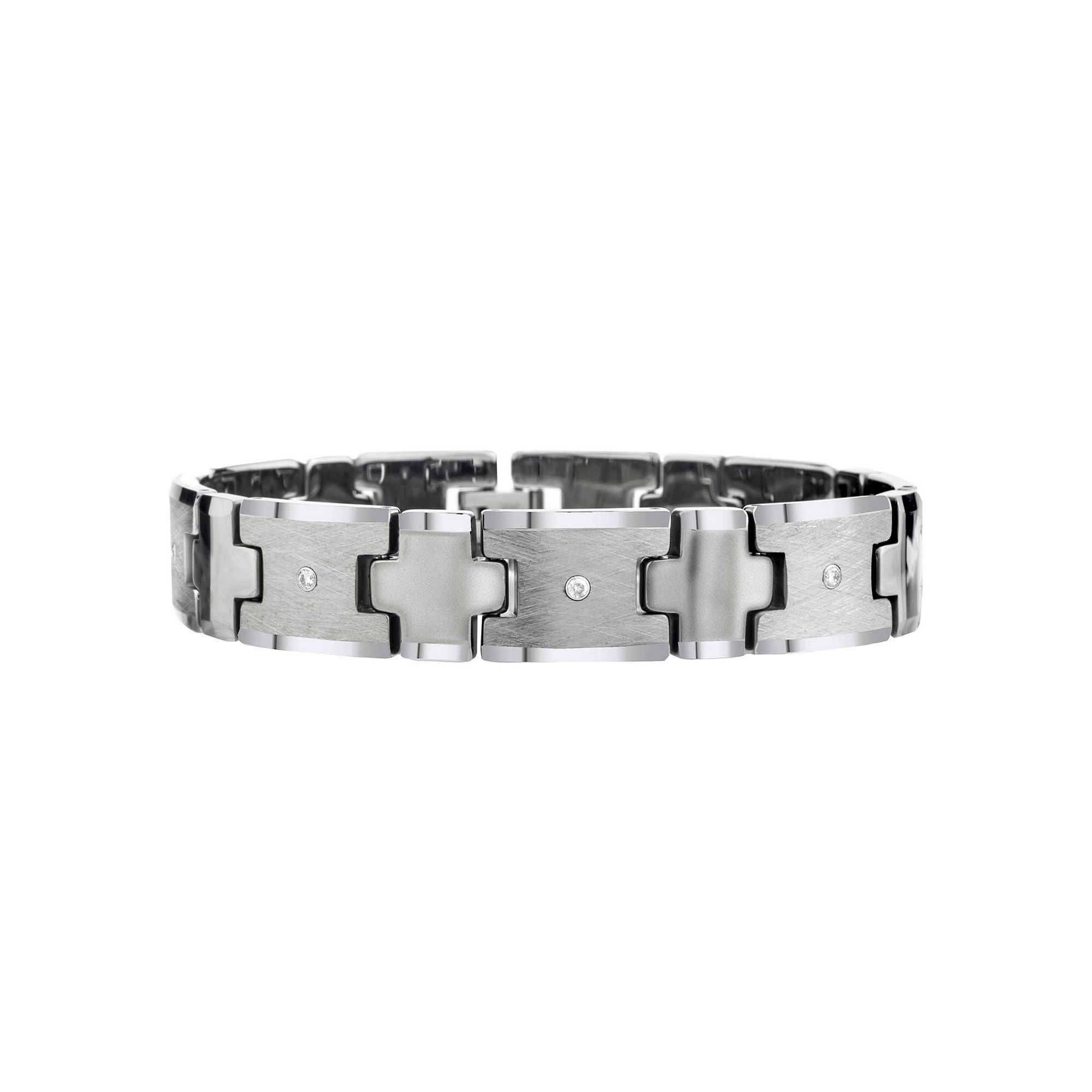 Mens 1/5 CT. T.W. Diamond Tungsten Carbide Chain Bracelet