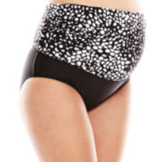 Christina® Dot Print 3-Way Swim Bottoms - Maternity