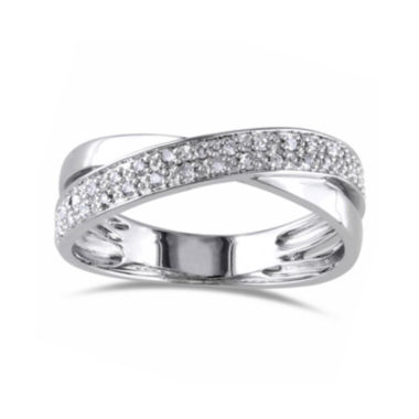 jcpenney.com | 1/6 CT. T.W. Diamond Sterling Silver Criss-Cross Ring