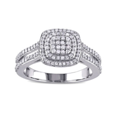 jcpenney.com | 1/2 CT. T.W. Diamond Sterling Silver Ring