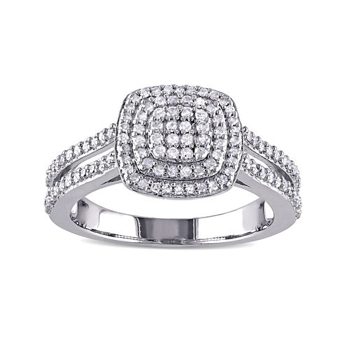 1/2 CT. T.W. Diamond Sterling Silver Ring