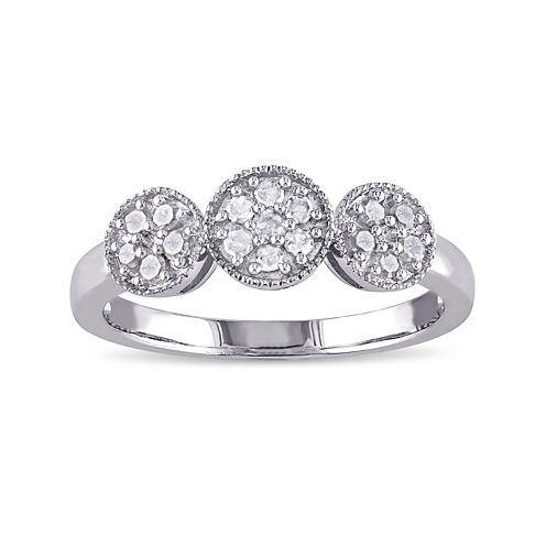 1/4 CT. T.W. Diamond Sterling Silver Ring