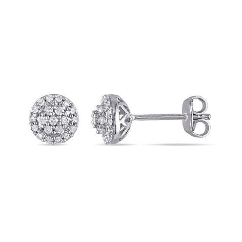 1/4 CT. T.W. Diamond Sterling Silver Earrings