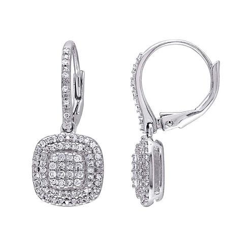 1/2 CT. T.W. Diamond Sterling Silver Earrings