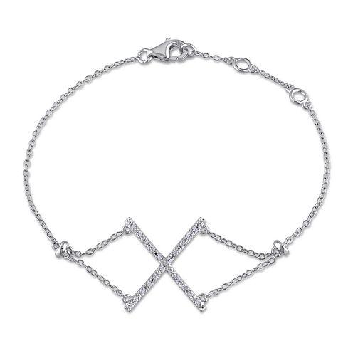 1/10 CT. T.W. Diamond Sterling Silver Bracelet