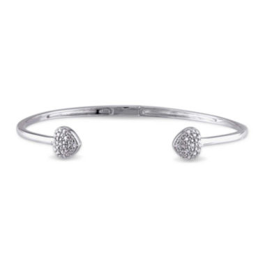 jcpenney.com | 1/10 CT. T.W. Diamond Sterling Silver Bangle Bracelet