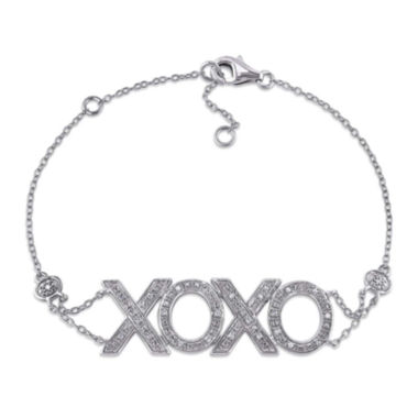 jcpenney.com | 1/10 CT. T.W. Diamond Sterling Silver Bracelet