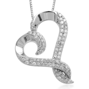 jcpenney.com | Hallmark Diamonds 1/2 CT. T.W. Diamond Sterling Silver Pendant