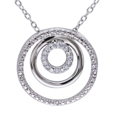 jcpenney.com | 1/10 CT. T.W. Diamond Sterling Silver Circle Pendant Necklace