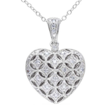 jcpenney.com | 1/7 CT. T.W. Diamond Sterling Silver Heart Pendant Necklace