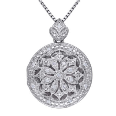 jcpenney.com | 1/10 CT. T.W. Diamond Sterling Silver Pendant