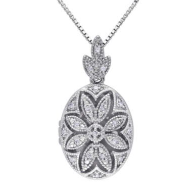 jcpenney.com | 1/10 CT. T.W. Diamond Sterling Silver Pendant Necklace