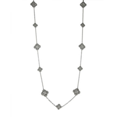 jcpenney.com | Jardin Crystal Filigree Trefoil Necklace