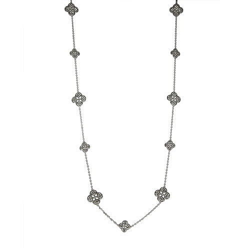 Jardin Crystal Filigree Trefoil Necklace