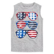 Okie Dokie® Americana Graphic Muscle Tee - Toddler Boys 2t-5t