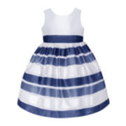 American Princess Sleeveless Stripe Skirt Dress - Girls 7-16 and Plus