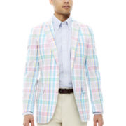 Stafford® Pastel Plaid Camelhair Sportcoat