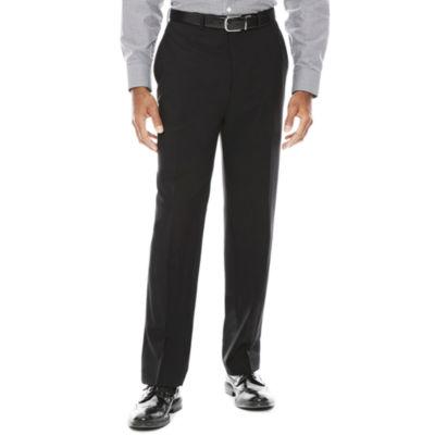 Claiborne® Grid Flat-Front Pants