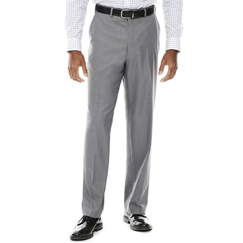IZOD® Sharkskin Flat-Front Pants