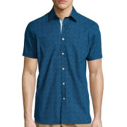 International Report Short-Sleeve Woven Button-Front Shirt