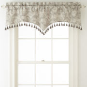 Royal Velvet® Adagio Shaped Ascot Rod-Pocket Valance