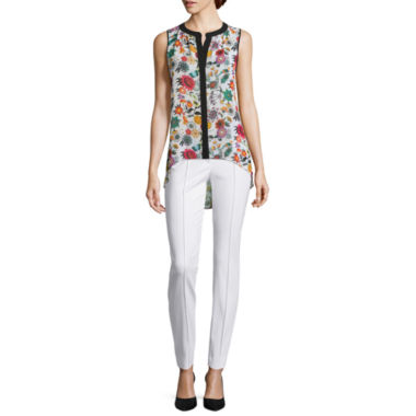 jcpenney.com | nicole by Nicole Miller® Floral Print Top or Slim-Fit Ankle Pants